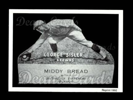 1927 Middy Bread Reprint #40  George Sisler
