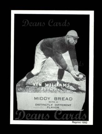 1927 Middy Bread Reprint #43  Ken Williams