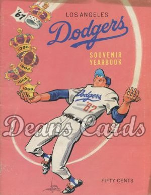 1967 Los Angeles Dodgers Yearbook - Dodger juggling crowns