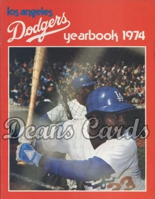 1974 Los Angeles Dodgers Yearbook - Jimmy Wynn