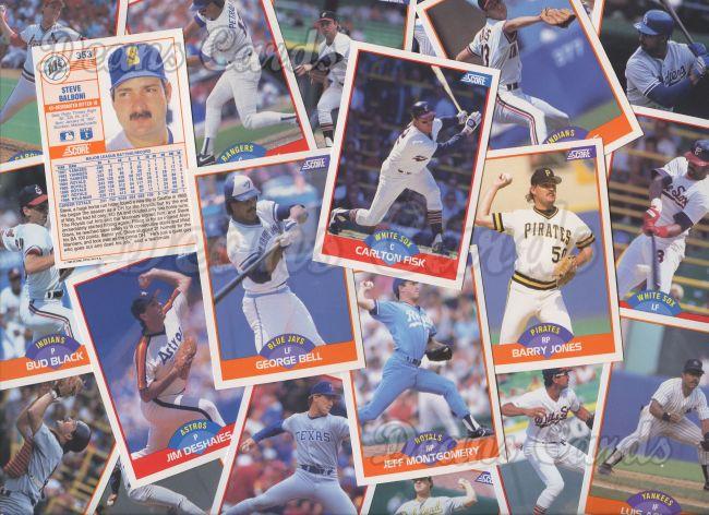 1989 Score 1989 Score Baseball Complete Set