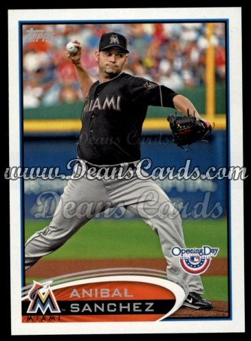 2012 Topps Opening Day #32  Anibal Sanchez