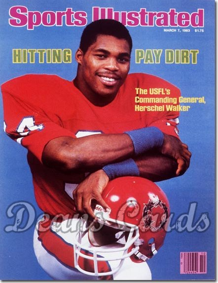 1983 Sports Illustrated - With Label   March 7  -  Herschel Walker (New Jersey Generals)