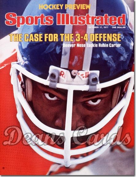 1977 Sports Illustrated - With Label   October 17  -  Rubin Carter (Denver Broncos)