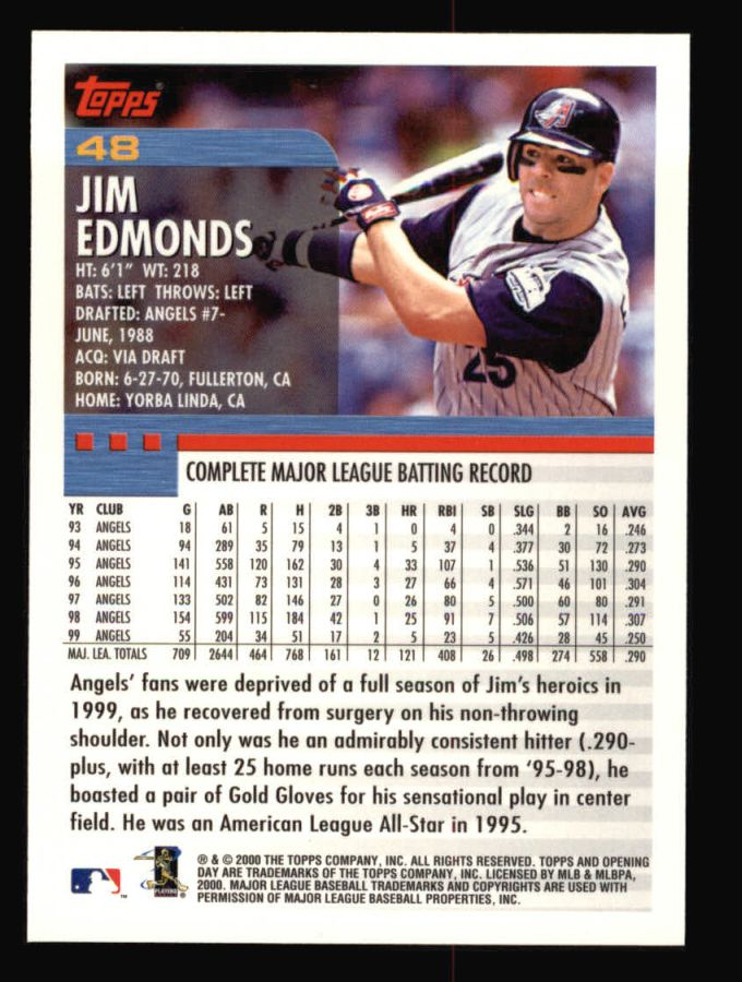 2000 Topps Opening Day #48  Jim Edmonds