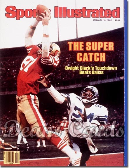 1982 Sports Illustrated - With Label   January 18  -  Dwight Clark
