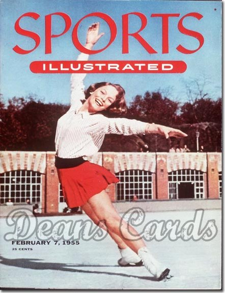 1955 Sports Illustrated - With Label   February 7  -  Carol Heiss (Figure Skating / Figure Skater)