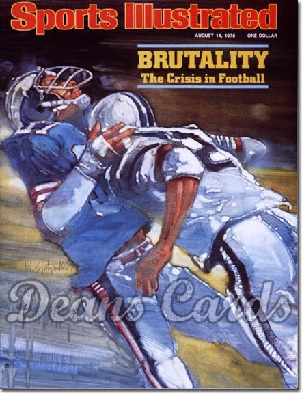 1978 Sports Illustrated - With Label   August 14  -  Football Brutality