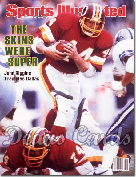 1983 Sports Illustrated - With Label   December 19  -  John Riggins (Washington)