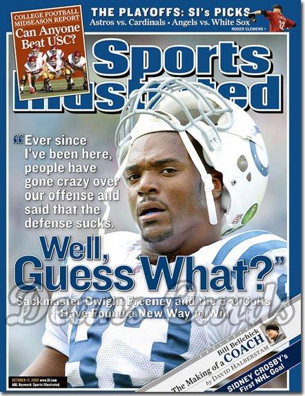 2005 Sports Illustrated - With Label   October 17  -  Dwight Freeney Indianapolis Colts
