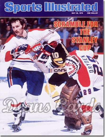 1978 Sports Illustrated - With Label   May 29  -  Larry Robinson/Ken Dryden (Montreal Canadiens)