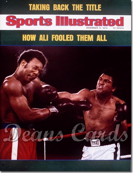 1974 Sports Illustrated - With Label   November 11  -  Muhammad Ali/George Foreman