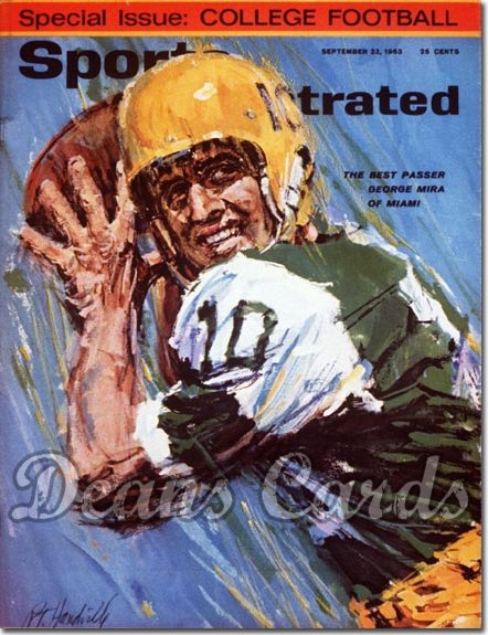1963 Sports Illustrated - With Label   September 23  -  George Mira Miami Hurricanes