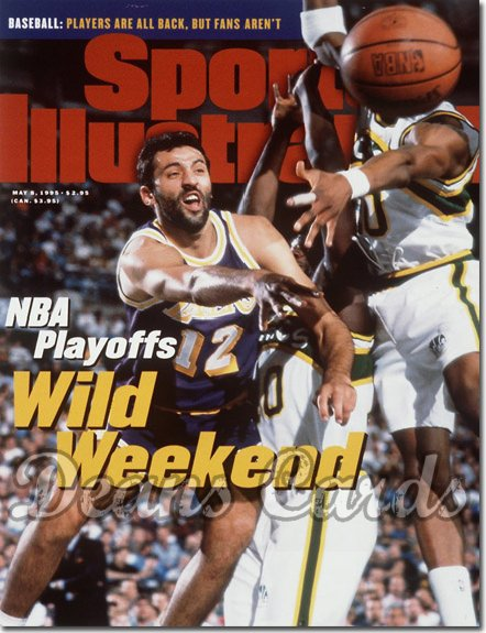 1995 Sports Illustrated - With Label   May 8  -  Vlade Divac (LA Lakers)