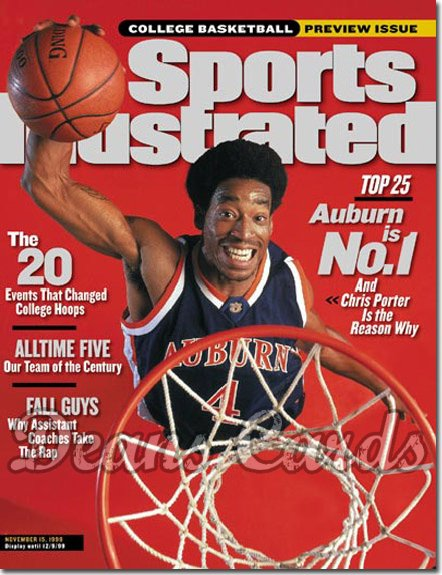 1999 Sports Illustrated - With Label   November 15  -  Chris Porter (Auburn Tigers) College Basketball Issue
