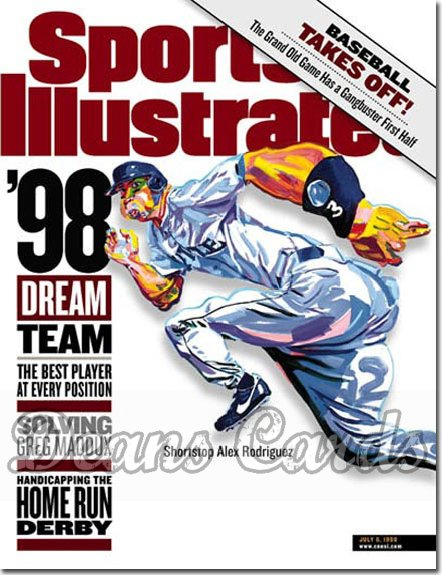 1998 Sports Illustrated - With Label   July 6  -  Alex Rodriguez (Seattle Mariners)