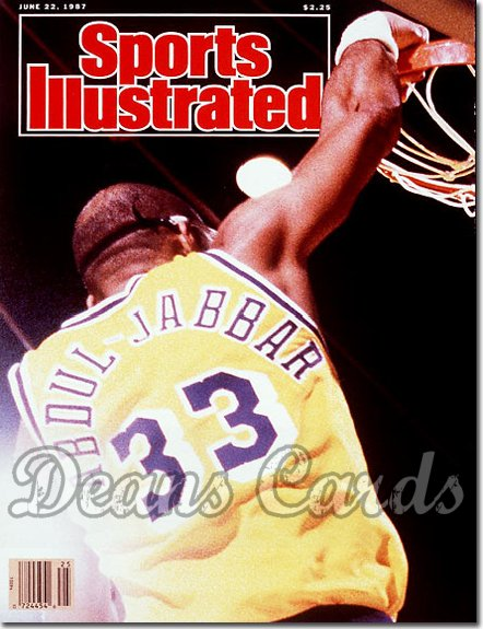 1987 Sports Illustrated - With Label   June 22  -  Kareem Abdul