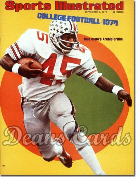 1974 Sports Illustrated - With Label   September 9  -  Archie Griffin Ohio State Buckeyes