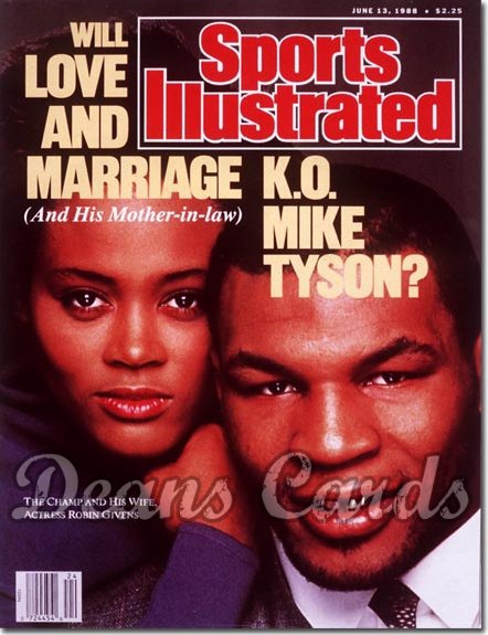 1988 Sports Illustrated - With Label   June 13  -  Mike Tyson & Robin Givens