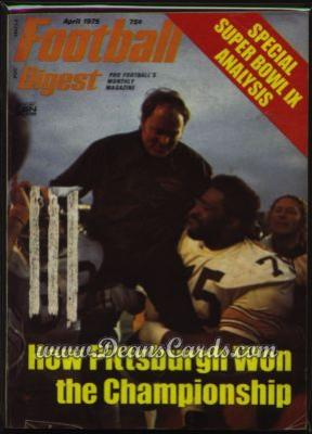 1975 Football Digest    April  - Super Bowl