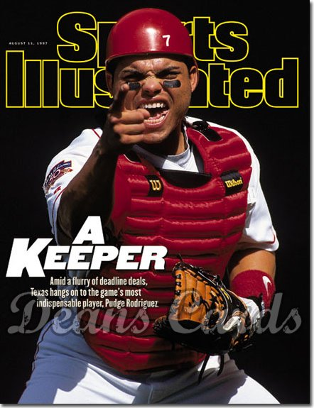 1997 Sports Illustrated - With Label   August 11  -  Ivan Rodriguez (Texas)