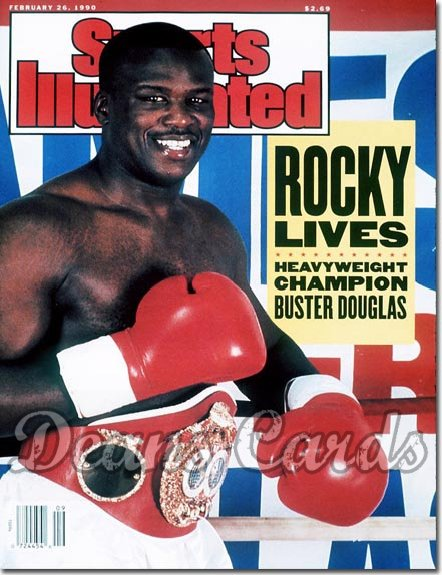 1990 Sports Illustrated - With Label   February 26  -  Buster Douglas