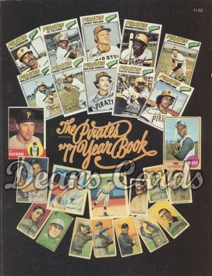 1977 Pittsburgh Pirates Yearbook - Pirate baseball cards