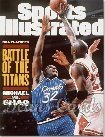 1995 Sports Illustrated - With Label   May 22  -  Michael Jordan (Bulls) Shaquille O'Neal (Magic)