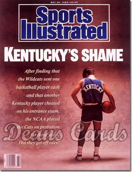 1989 Sports Illustrated - With Label   May 29  -  Kentucky Wildcats Basketball