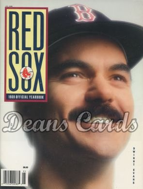 1989 Boston Red Sox Yearbook - Dwight Evans