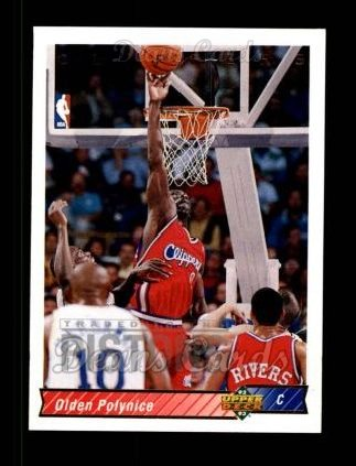 1992 Upper Deck #29  Olden Polynice