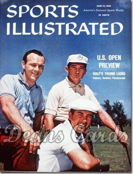 1960 Sports Illustrated - With Label   June 13  -  Arnold Palmer (1st Cover) / Ken Venturi / Finsterwald