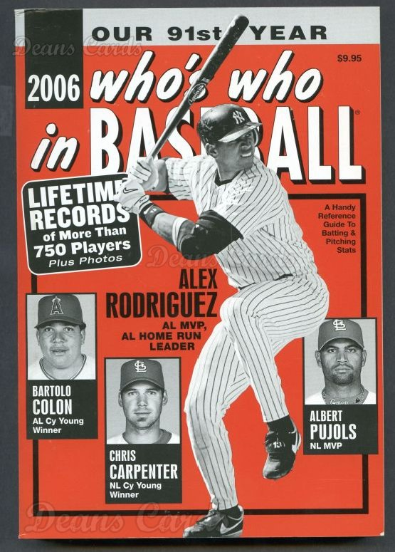 2006 Who's Who in Baseball   -  Alex Rodriguez
