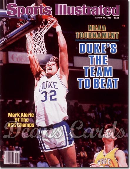 1986 Sports Illustrated - With Label   March 17  -  Mark Alarie (Duke Blue Devils)