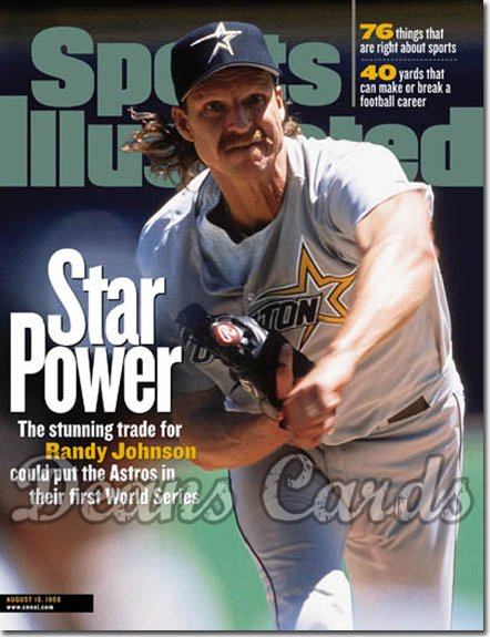 1998 Sports Illustrated - With Label   August 10  -  Randy Johnson (Houston Astros)