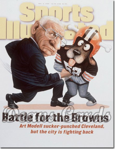 1995 Sports Illustrated - With Label   December 4  -  Art Modell (Cleveland Browns)