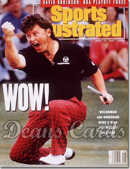 1991 Sports Illustrated - With Label   April 22  -  Ian Woosnam