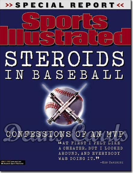 2002 Sports Illustrated - With Label   June 3  -  Steroids in Baseball