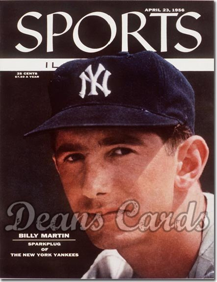 1956 Sports Illustrated - With Label   April 23  -  Billy Martin (New York Yankees)