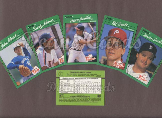 1990 Donruss 1990 Donruss Baseball Rookies Complete Set
