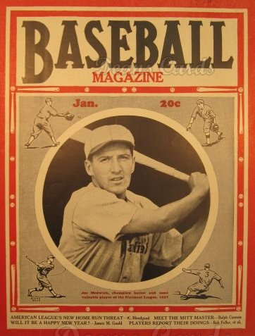 1938 Baseball Magazine    January