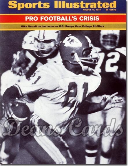 1970 Sports Illustrated - With Label   August 10  -  Mike Garrett (Kansas City Chiefs)