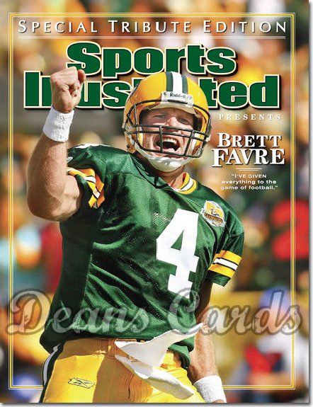 2008 Sports Illustrated - With Label   March 14  -  Brett Favre