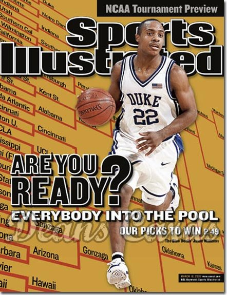 2002 Sports Illustrated - With Label   March 18  -  Jason Williams Blue Devils SI