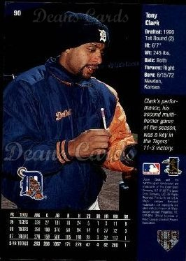 1998 Upper Deck #90  Tony Clark