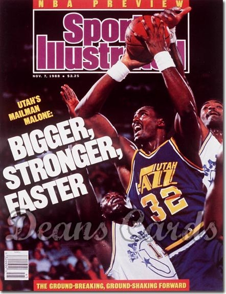 1988 Sports Illustrated - With Label   November 7  -  Karl Malone (Utah Jazz)NBAIssue