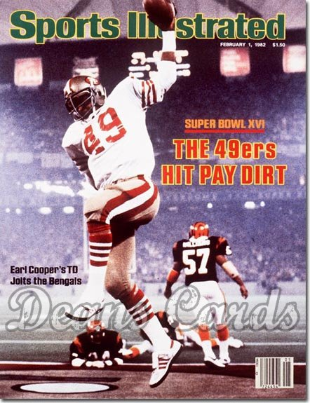 1982 Sports Illustrated - With Label   February 1  -  Earl Cooper (San Francisco 49ers) (Super Bowl XVI)