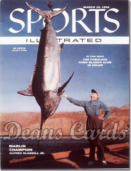 1956 Sports Illustrated - With Label   March 19  -  Alfred Glassell Jr. (Marlin Fishing)