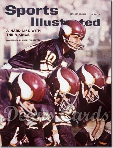 1962 Sports Illustrated - With Label   October 29  -  Fran Tarkenton Minnesota Vikings