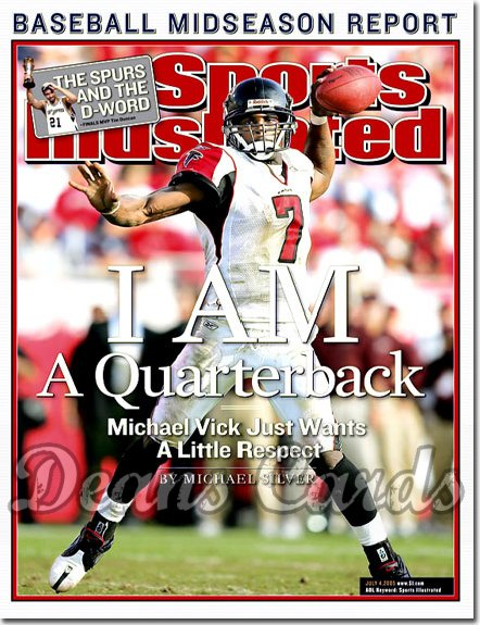 2005 Sports Illustrated - With Label   July 4  -  Michael Vick Atlanta Falcons